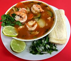Caldo de Camaron (Shrimp Soup)