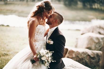 The happy couple.Wedding photos in natur