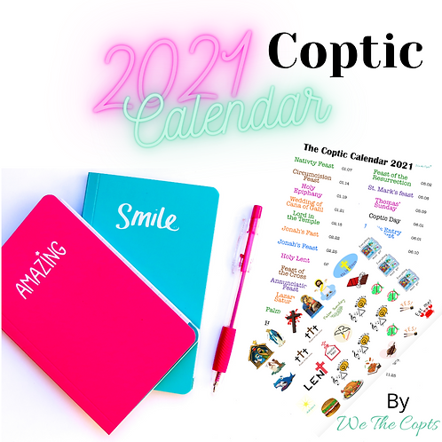 2021 Coptic Calendar and Planner Stickers