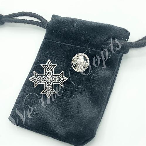 Coptic cross lapel pin