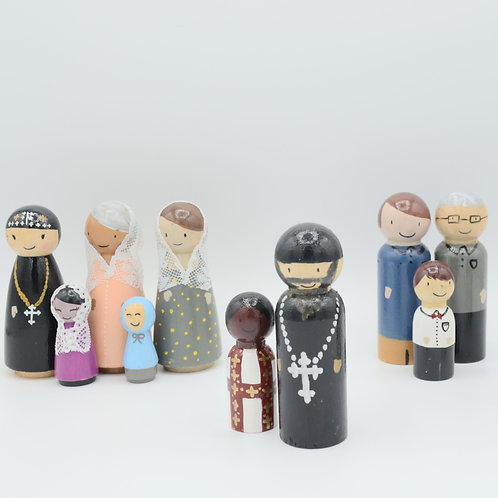 Coptic Orthodox Church Congregation Peg Dolls