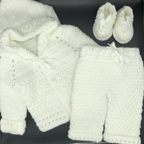 Crochet white set for boys