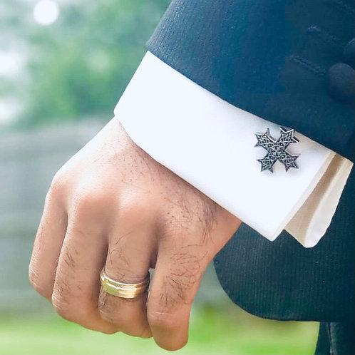 Coptic cross cufflinks