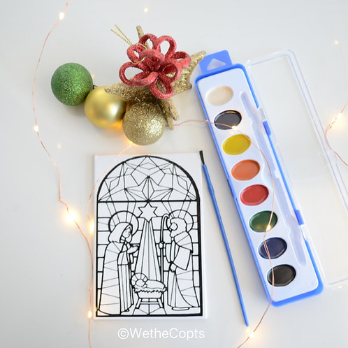 Paint your own Nativity Scene Magnetic Canvas set of 3