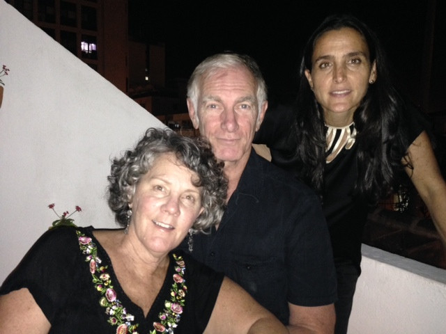 John and Maggie with Monika Wagenberg
