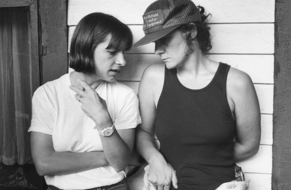 Peggy Rajski and Maggie Renzi discuss Matewan. Photo courtesy of Bob Marshak.