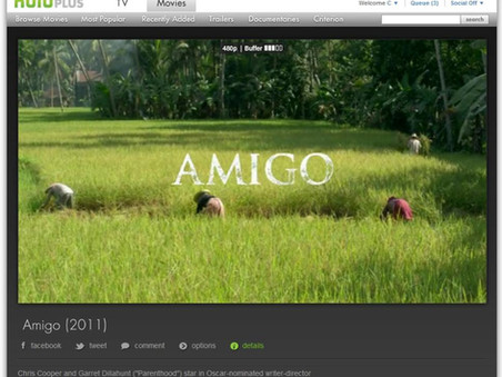 Amigo is now on Hulu, Hulu+, and Netflix