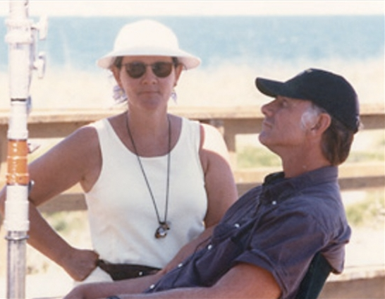 John and Maggie on the set of Sunshine State in 2002