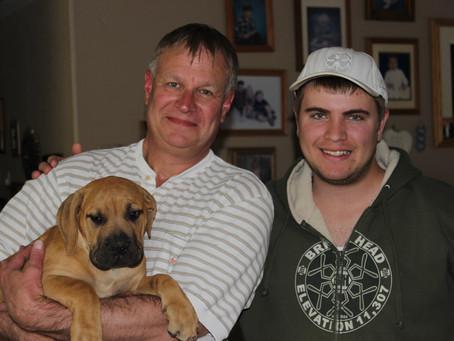 Stan and David with Otis