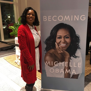Marisa Tigney at former first lady's Michelle Obama's Becoming book tour in Dallas Texas