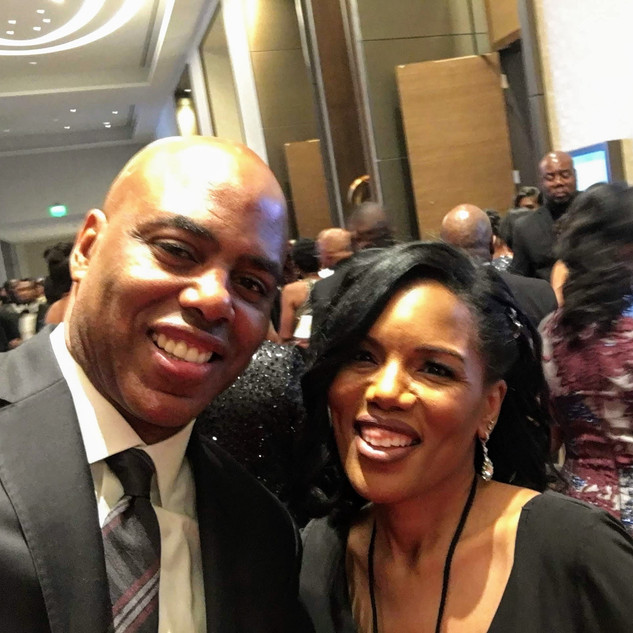 Marisa Tigney and Entertainment Tonight's Kevin Frazier