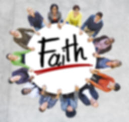 Diverse People Holding Hands Faith Conce