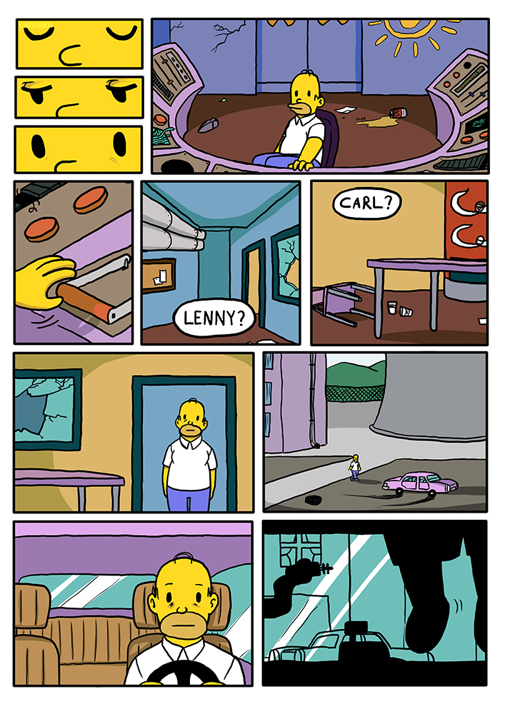 Simpsons Comic Page