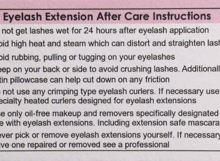 Natural Lash and Eyelash Extension Care