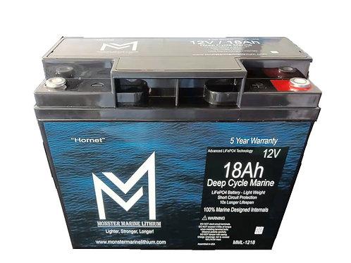 """12v 18Ah Deep Cycle Marine Battery """"Hornet"""""""