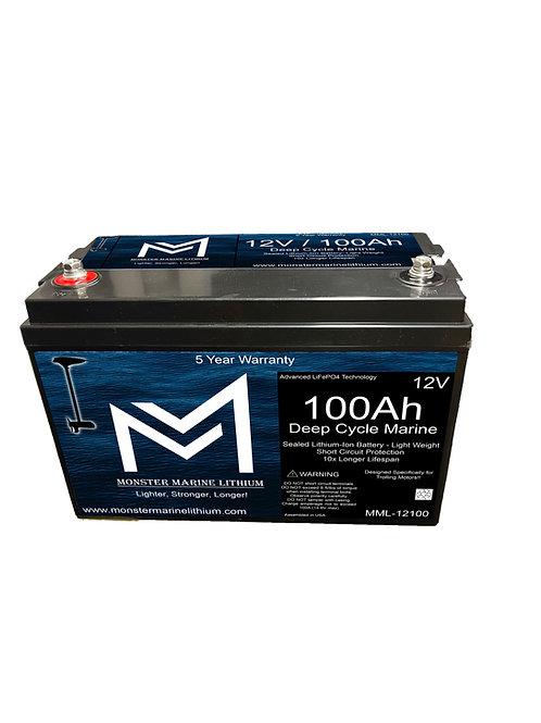 12v 100Ah Deep Cycle Marine Battery