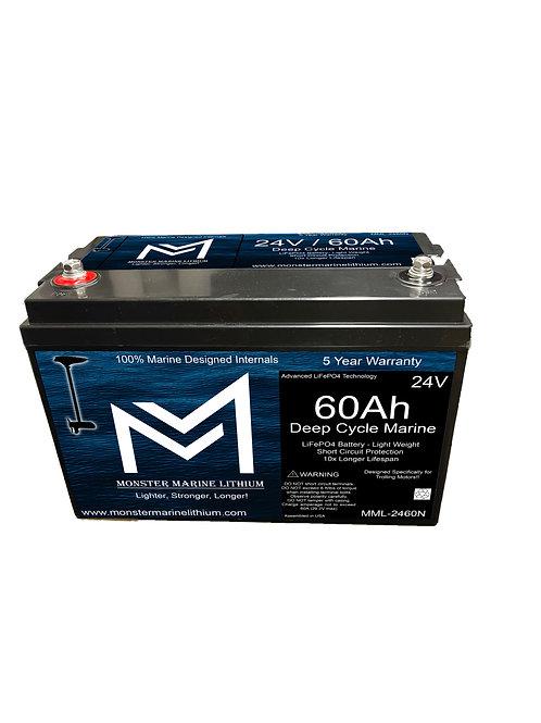 24V 60Ah Deep Cycle Marine Trolling Battery MML-2460N