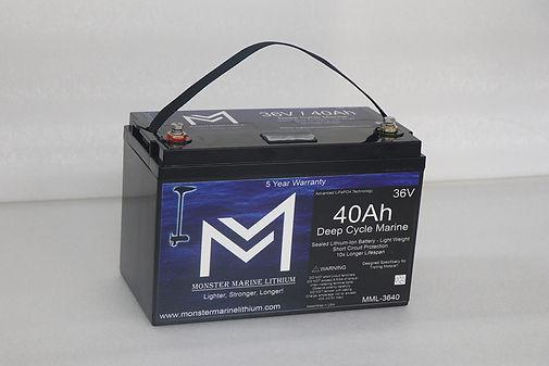Monster Marine Lithium Trolling Battery 36 volt