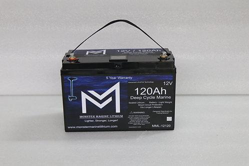 12V 120Ah Deep Cycle Marine Electronics Battery MML-12120 (w/ display)
