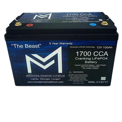 "1700CCA Cranking LiFePO4 ""The Beast"" 100Ah"