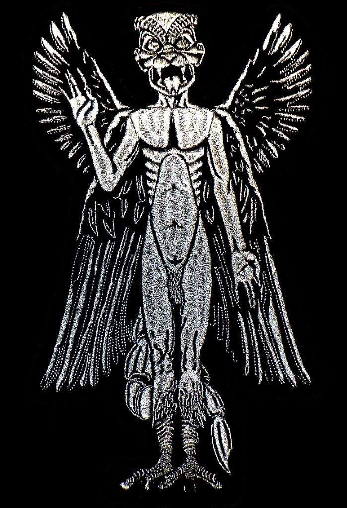 Ilustración del demonio sumerio Pazuzu