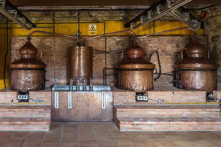 Alambiques para la destilación de bebidas