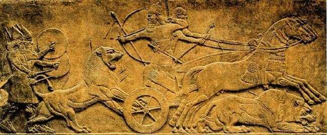 Caza de leones del rey Asurbanipal