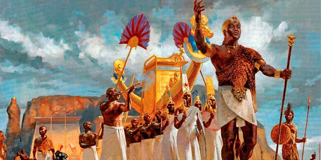Ilustración de los faraones negros