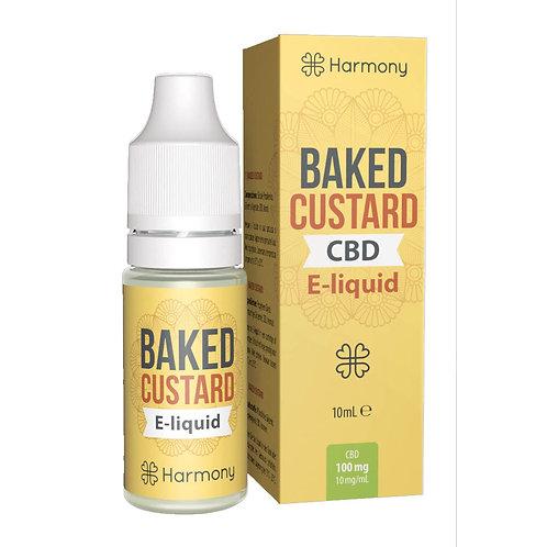 Harmony Baked Custard CBD E-Liquid 10ml - 1% 10mg pro ml