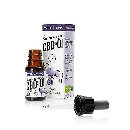Vetrihemp CBD Öl für Haustiere ab 10kg 12% CBD 10ml