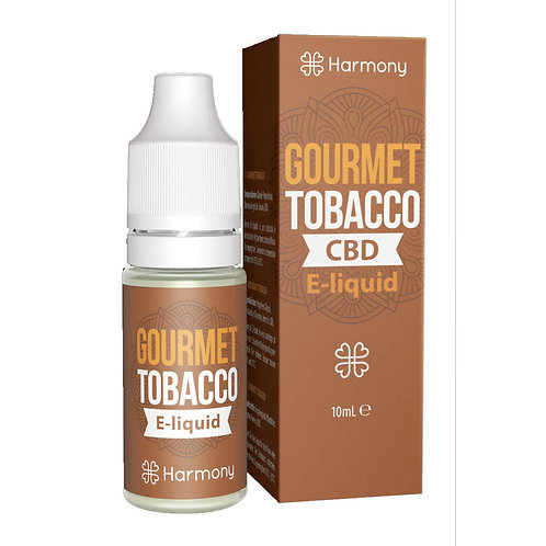 Harmony Gourmet Tobacco CBD E-Liquid 10ml - 3% 30mg pro ml
