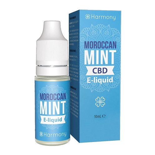 Harmony Moroccan Mint CBD E-Liquid 10ml - 1% 10mg pro ml