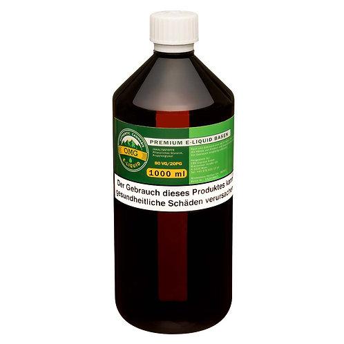 OMG E-Liquid Base 1000ml - 80VG/20PG