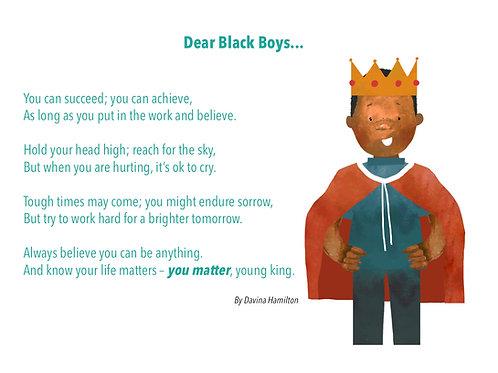 Dear Black Boys Poem