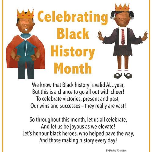 Black History Month Poem