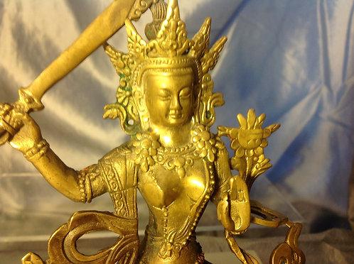 Bronze Tibetan statue of Manjushri late 19th C