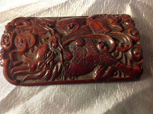 Chinese carved Amulet with Dragon