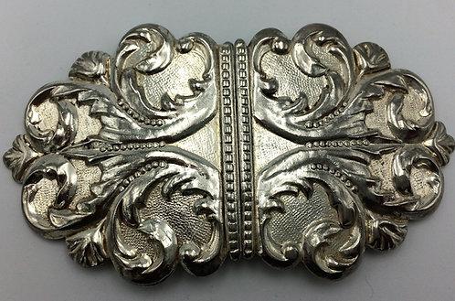 Silver nurses belt buckle Birmingham 1972