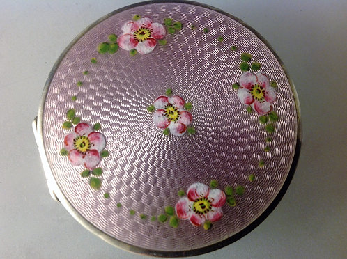 Silver and enamel compact c1920