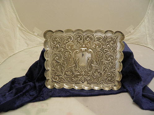 Silver dressing table tray