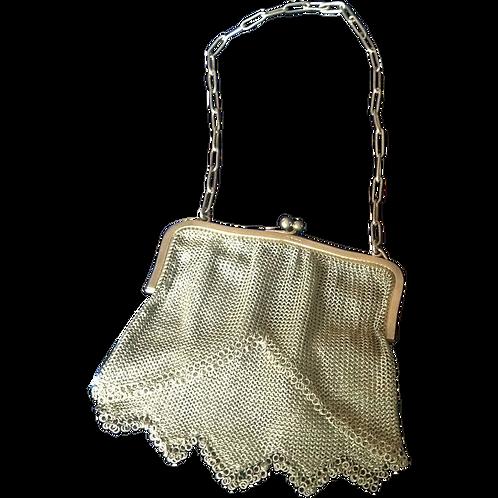 Edwardian Silver mesh evening bag 1904