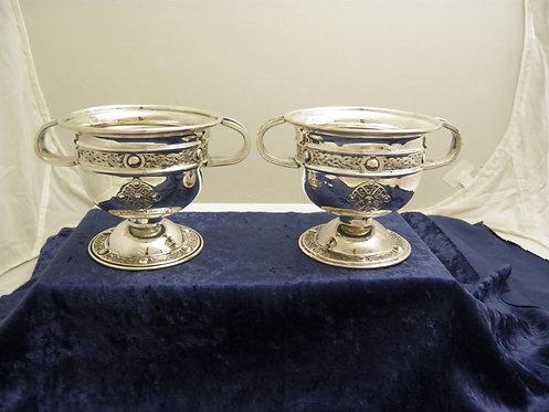 Pair of Irish silver bowls