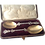 Thumbnail: Pair of ornate silver serving spoons 1879