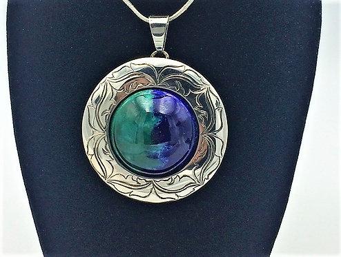 Handcrafted Silver enamel interchangeable pendant
