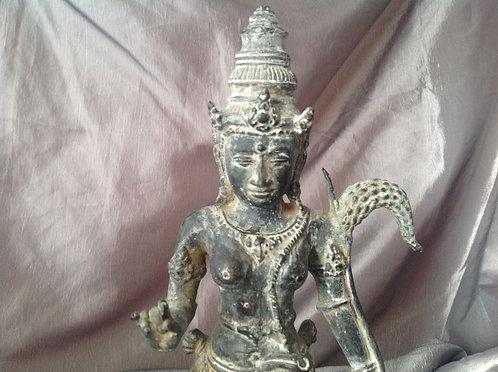 Antique Thai bronze statue of Bodhisattva