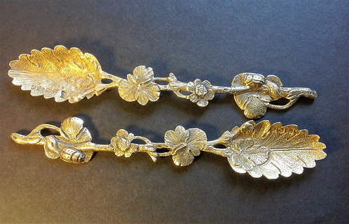 Silver Naturalistic cast spoons Joseph Angell 1838