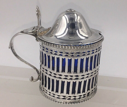 Newcastle silver Mustard Pot & Liner Robert Pinkney & Robert Scott II 1784