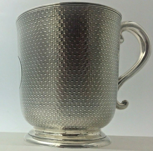 Quality Victorian silver christening mug London 1866 Edward Ker Reid