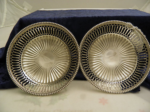 Pair of silver sweetmeat or bonbons bowls 1911