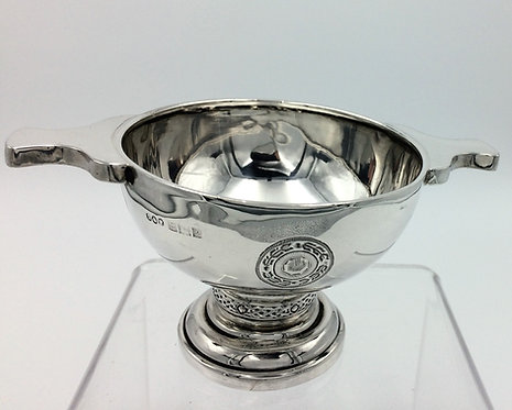 Celtic Design Silver Quaich Birmingham 1961